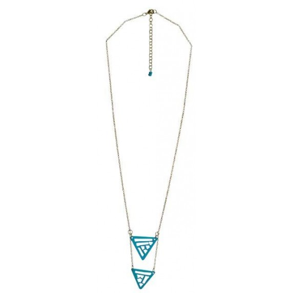 Collier Triangles turquoise