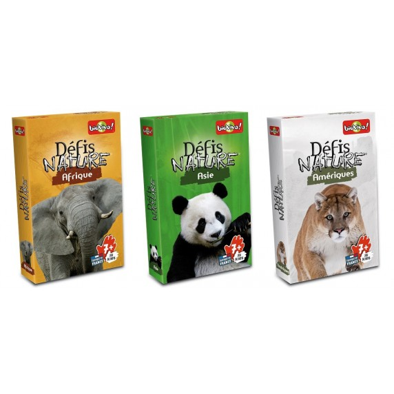 Pack 3 x 6 Jeux Nature - Continents