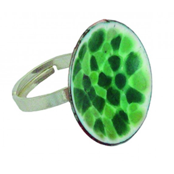 Bague Emaille Verte - Chili