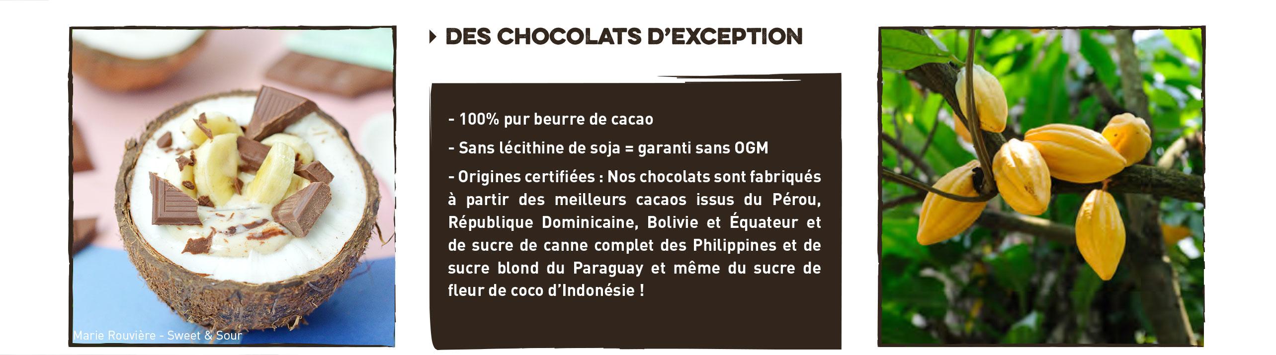 chocolats bio et équitable
