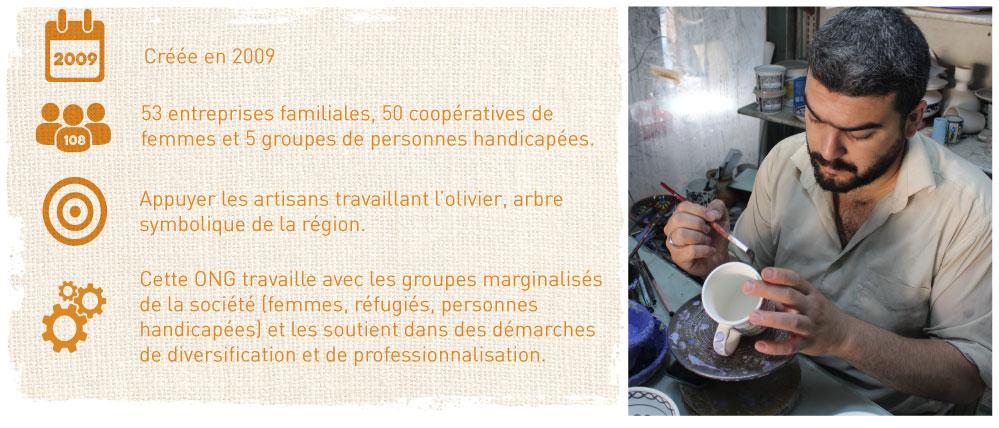 artisans commerce équitable Palestine bois olivier