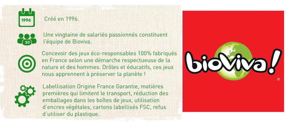jeux Bioviva fabriqués en France dans le respect de l'environnement