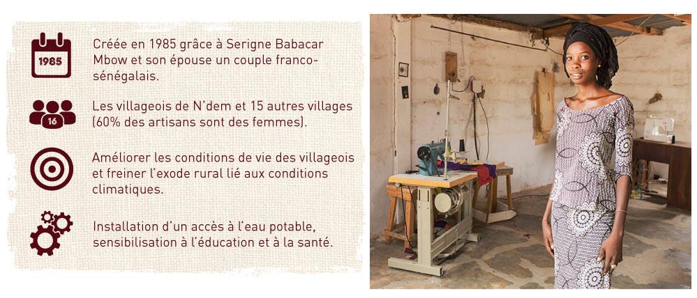 Créé par un couple franco-sénégalais pour améliorer les conditions de vie des villageois
