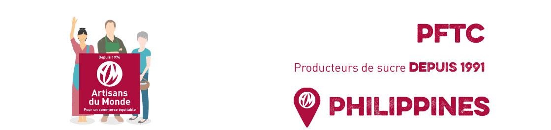 Le Mascobado est intégralement produit aux Philippines, sur l'île de Panay par la coopérative Panay Fair Trade Center (PFTC). Elle compte aujourd'hui 284 paysans dont 170 femmes. L'objectif général de PFTC est de renforcer l'autonomie des organisations paysannes productrices de Mascobado sur l'île de Panay. Son histoire remonte à 1984. Elle a été créée par les producteurs eux-mêmes. Ils sont encore aujourd'hui les détenteurs des outils de production et du produit final.