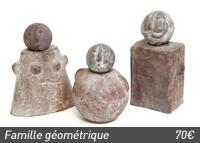 La famille rigolos, poterie Artisans du Monde