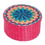 boite fibre palmier rose