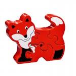 maman bebe renard bois puzzle