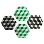sous-verres-capiz-noir-vert