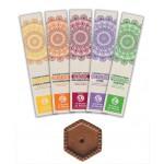 Set d'encens 5 variétés et porte-encens Sensea