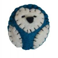Broche hibou bleue