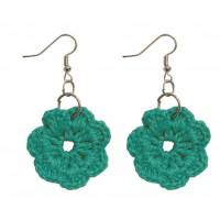 Boucles d'oreilles Crochet vert