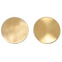 Boucles d'oreilles bouton dorées