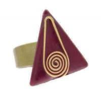 Bague rouge et dorée egypte
