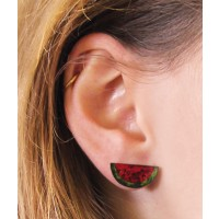 boucle oreille pasteque