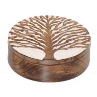 boite bois arbre de vie