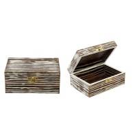 Boîte en bois commerce équitable
