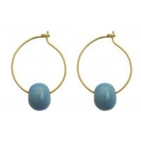 Boucles d'oreilles Tandala bleu