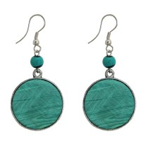 boucles oreille turquoise