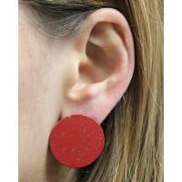 Boucles d'oreilles rouges équitables