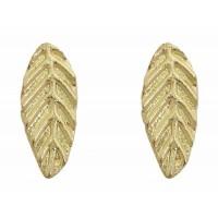 boucles oreilles feuilles dore commerce equitable