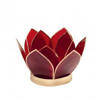 bougeoir lotus fleur