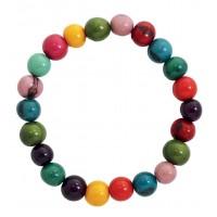 bracelet graines couleurs