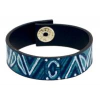 bracelet equitable bleu cuir