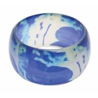 bracelet manchette bleu equitable