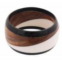bracelet bois graphique nois blanc commerce equitable