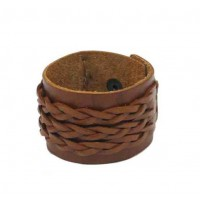 bracelet marron cuir