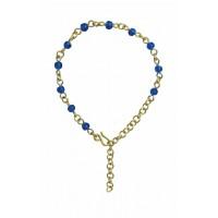 bracelet laiton bleu equitable