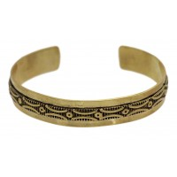 bracelet jonc dore equitable