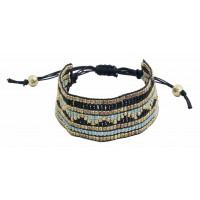 bracelet noir dore equitable