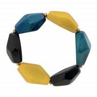bracelet tagua bleu jaune responsable