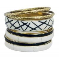 Bracelets équitable noir et blanc