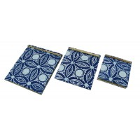 carnet bleu batik