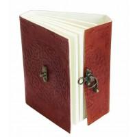 carnet cuir rouge artisanal