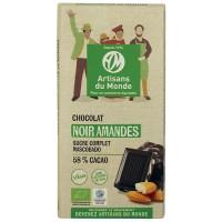 Chocolat noir amandes Bio et équitable
