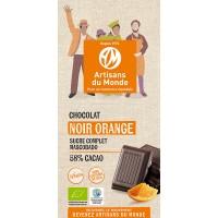 Chocolat noir à l'orange bio et équitable