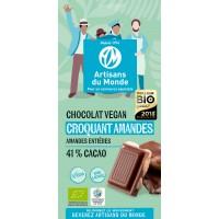 Chocolat croquant amandes vegan Bio100g