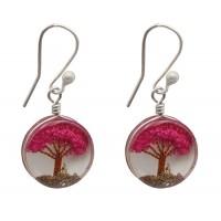 boucles-oreilles-argent-arbre-rose