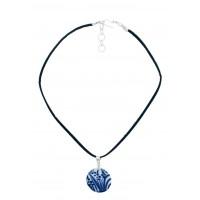 Collier céramique bleu et blanc équitable