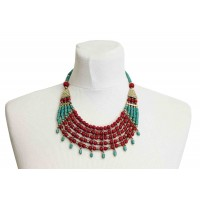 collier rouge perles