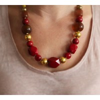 collier rouge dore equitable