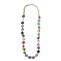 collier soie coton recycle equitable