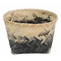 corbeille grise en bambou equitable