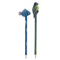 Crayons poisson et oiseaux