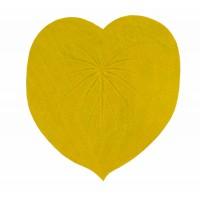 dessous de plat jaune feuille