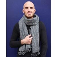 echarpe laine equitable grise