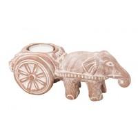 Bougeoir Éléphant et sa charrette